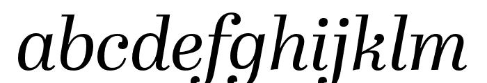 Abril Fatface Italic Font LOWERCASE