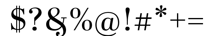 Abril Fatface Regular Font OTHER CHARS