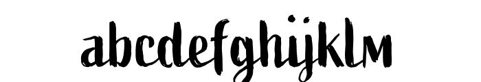 Active Regular Font LOWERCASE