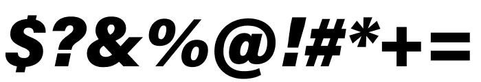 Acumin Pro Black Italic Font OTHER CHARS