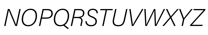Acumin Pro Condensed Extra Light Italic Font UPPERCASE