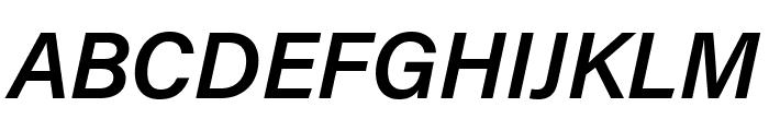 Acumin Pro Condensed Semibold Italic Font UPPERCASE