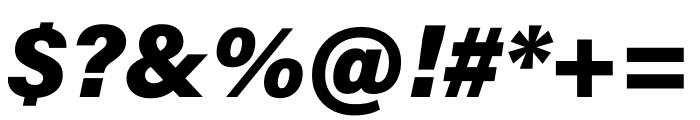 Acumin Pro ExtraCondensed Black Italic Font OTHER CHARS