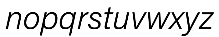 Acumin Pro ExtraCondensed Light Italic Font LOWERCASE