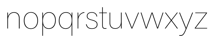 Acumin Pro ExtraCondensed Thin Font LOWERCASE