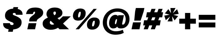 Acumin Pro ExtraCondensed Ultra Black Italic Font OTHER CHARS