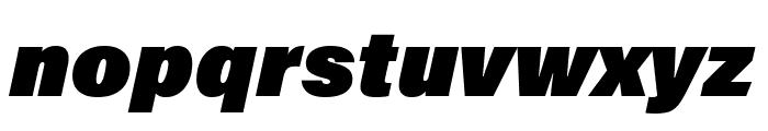 Acumin Pro ExtraCondensed Ultra Black Italic Font LOWERCASE