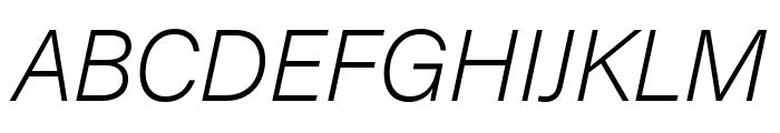 Acumin Pro SemiCondensed Extra Light Italic Font UPPERCASE