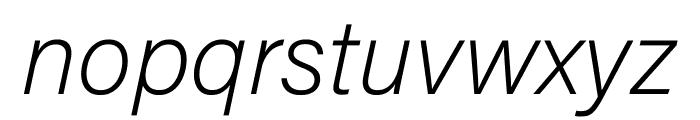 Acumin Pro SemiCondensed Extra Light Italic Font LOWERCASE