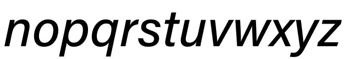 Acumin Pro SemiCondensed Medium Italic Font LOWERCASE