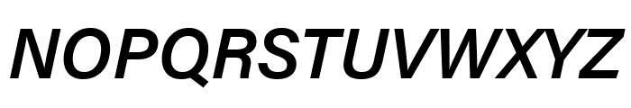 Acumin Pro SemiCondensed Semibold Italic Font UPPERCASE