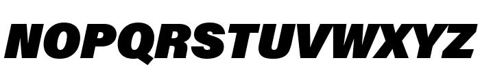 Acumin Pro SemiCondensed Ultra Black Italic Font UPPERCASE