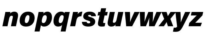 Acumin Pro Wide Black Italic Font LOWERCASE
