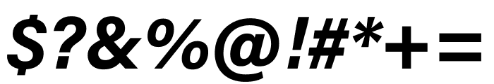 Acumin Pro Wide Bold Italic Font OTHER CHARS