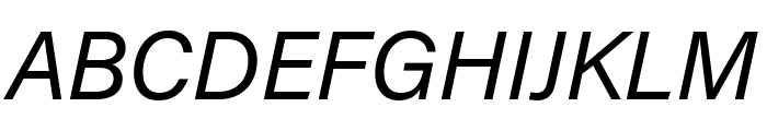 Acumin Pro Wide Italic Font UPPERCASE