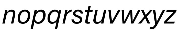 Acumin Pro Wide Italic Font LOWERCASE