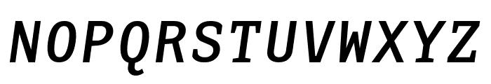 AdaptiveMono OT BoldOblique Font UPPERCASE