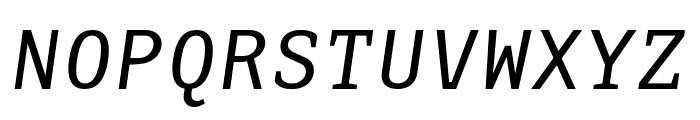 AdaptiveMono OT Oblique Font UPPERCASE