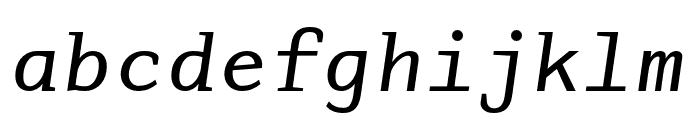 AdaptiveMono OT Oblique Font LOWERCASE