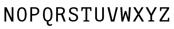 AdaptiveMono OT Regular Font UPPERCASE