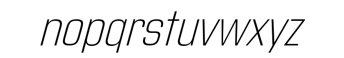 Address Sans Pro Cd ExtraLight It Font LOWERCASE