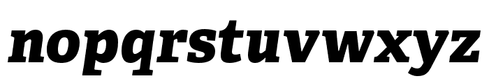 Adelle Condensed ExtraBold Italic Font LOWERCASE