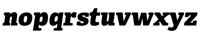 Adelle Condensed Heavy Italic Font LOWERCASE