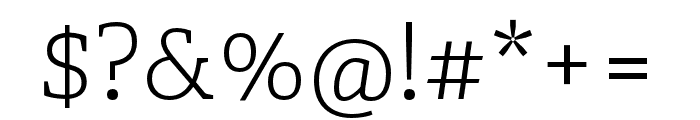 Adelle Condensed Light Italic Font OTHER CHARS