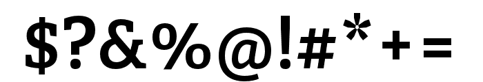 Adelle Condensed SemiBold Font OTHER CHARS