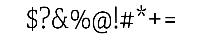Adelle Condensed Thin Font OTHER CHARS