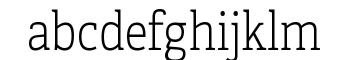 Adelle Condensed Thin Font LOWERCASE