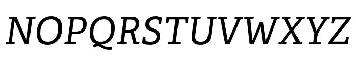 Adelle PE Italic Font UPPERCASE
