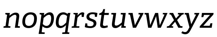 Adelle PE Italic Font LOWERCASE