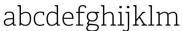 Adelle PE Light Italic Font LOWERCASE