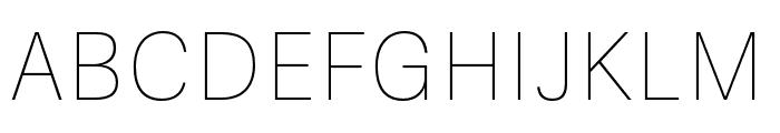 Adelle Sans ARA Ultrathin Font UPPERCASE