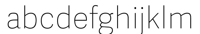 Adelle Sans ARA Ultrathin Font LOWERCASE