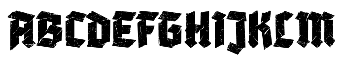Adhesive Nr. Seven Regular Font UPPERCASE