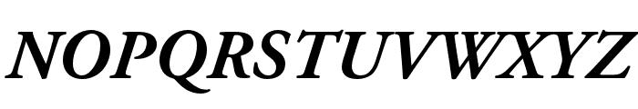 Adobe Garamond Pro Bold Italic Font UPPERCASE