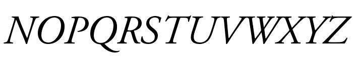 Adobe Garamond Pro Italic Font UPPERCASE