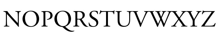 Adobe Garamond Pro Regular Font UPPERCASE