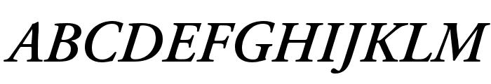 Adobe Garamond Pro Semibold Italic Font UPPERCASE