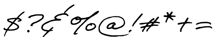 Adobe Handwriting Frank Font OTHER CHARS