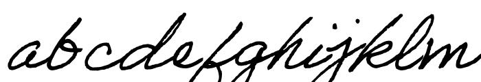 Adobe Handwriting Frank Font LOWERCASE