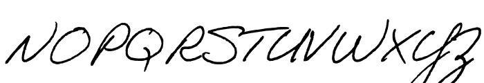 Adobe Handwriting Tiffany Font UPPERCASE
