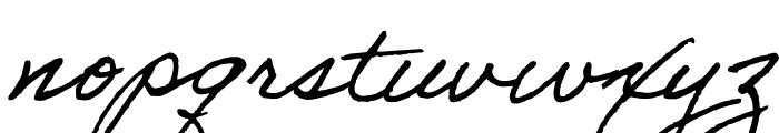 Adobe Handwriting Tiffany Font LOWERCASE