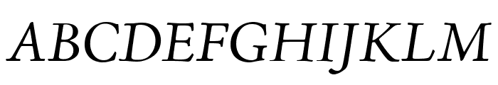 Adobe Jenson Pro Italic Display Font UPPERCASE
