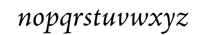 Adobe Jenson Pro Italic Display Font LOWERCASE