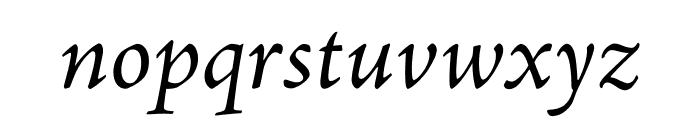 Adobe Jenson Pro Italic Subhead Font LOWERCASE