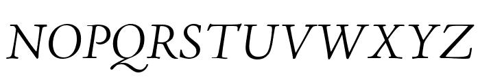 Adobe Jenson Pro Light Italic Display Font UPPERCASE