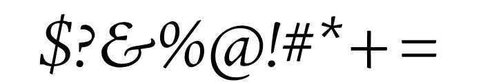 Adobe Jenson Pro Light Italic Subhead Font OTHER CHARS